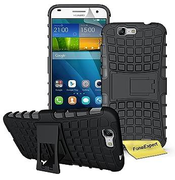 Huawei Ascend G7 Funda, FoneExpert® Heavy Duty silicona híbrida con soporte Cáscara de Cubierta Protectora de Doble Capa Funda Caso para Huawei Ascend ...