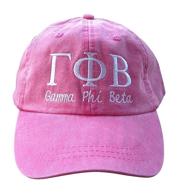 3613f5e26 Mega Greek Womens Gamma Phi Beta Script Baseball Cap Pink at Amazon ...