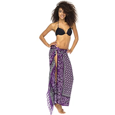 880918d21b Back From Bali Womens Sarong Wrap, Beach Swimsuit Cover Up - Elephant Queen  with Coconut Clip