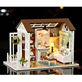 Rylai 3D Puzzles Wooden Miniature Dollhouse DIY Kit Light Series Dollhouses Accessories Dolls Houses with Furniture LED Music