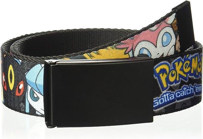 Buckle Down Herren Web Belt Pokemon 1 5 Gürtel Mehrfarbig 4 Cm Breit 42 Cm Hosen Größe Bekleidung