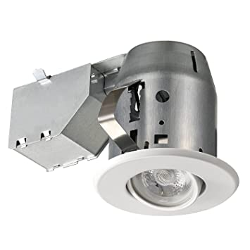3u0026quot; Dimmable Downlight Swivel Spotlight Recessed Lighting Kit IC Rated with LED Bulb  sc 1 st  Amazon.com & Amazon.com: 3