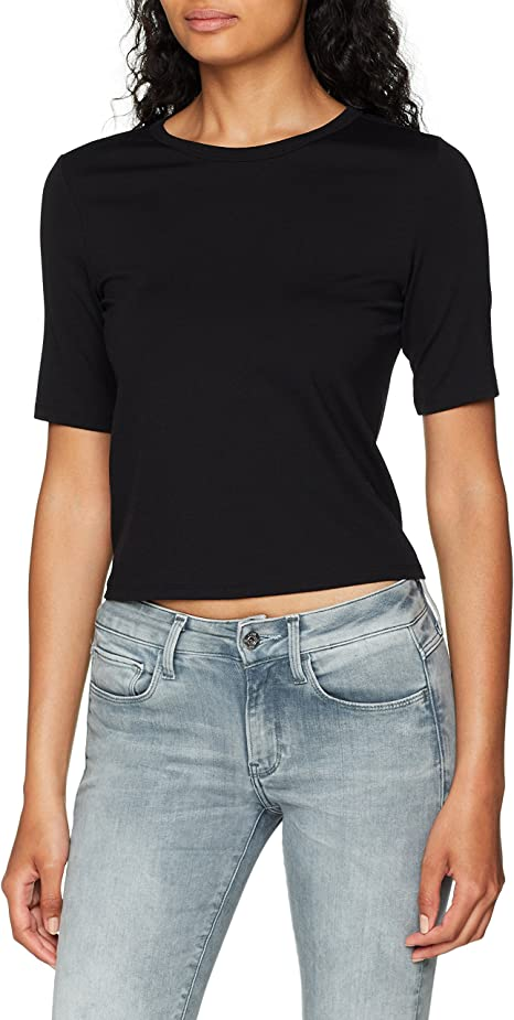 TALLA XS. G-STAR RAW Silber Cropped R T Wmn S/S Camiseta para Mujer