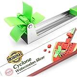 Watermelon Windmill Cutter Slicer [Original] - Weetiee Auto Stainless Steel Melon Cuber Knife - Fun Fruit Vegetable Salad Qui