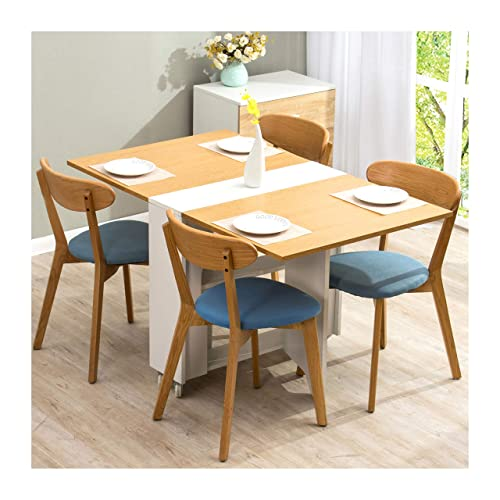 4 seater dining set wooden cherry tree furniture oak white colour folding expandable 24 seater dining table with seat table amazoncouk