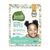 Seventh Generation Baby Wipes, Free & Clear with Flip Top Dispenser, 504 count