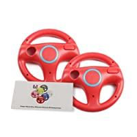 Wii U Wii Volante para juegos de carreras, color blanco original, Mario Kart Racing Wheels, 2
