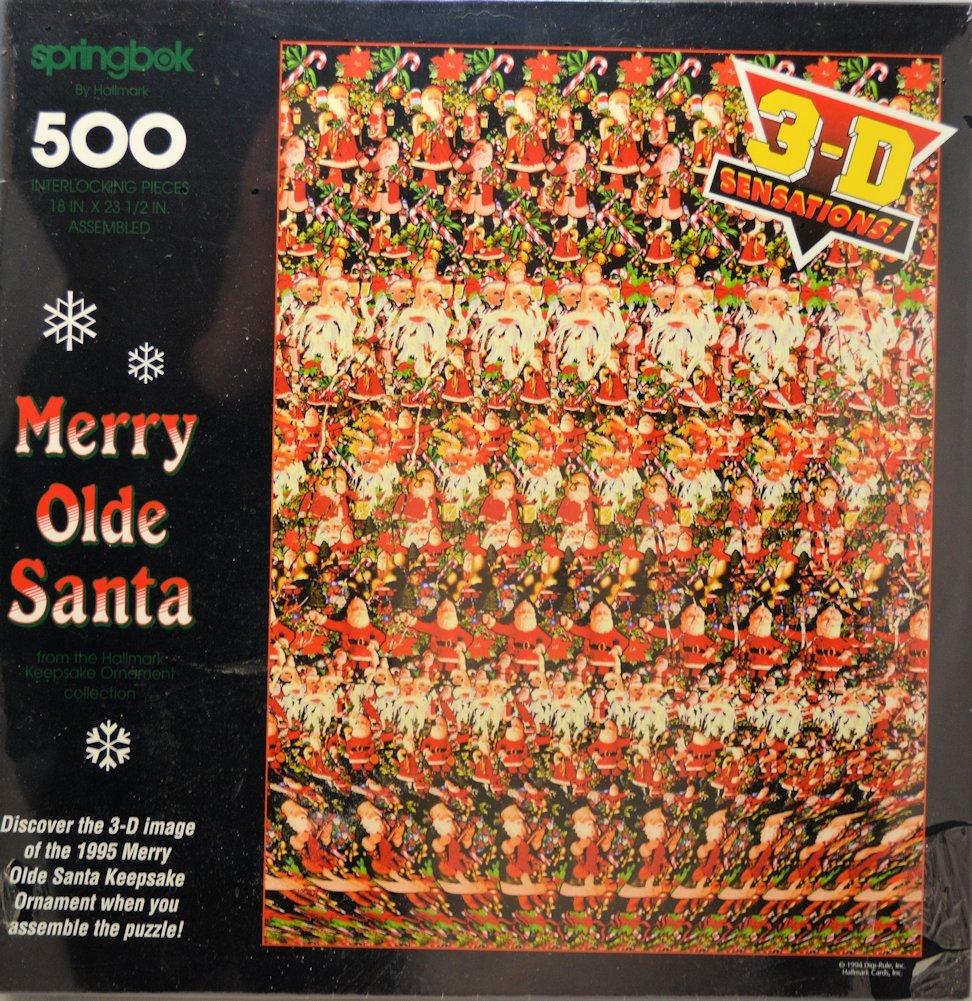 超可爱 Merry Olde (18 Santa Olde 500-piece 3D Stereogram Puzzle (18 x Springbok 23.5) by Springbok B0041HMYNO, パーティードレス通販!PourVous:00126de3 --- quiltersinfo.yarnslave.com