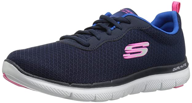 Flex Appeal 2.0-Newsmaker, Zapatillas para Mujer, Azul (Navy), 35 EU Skechers