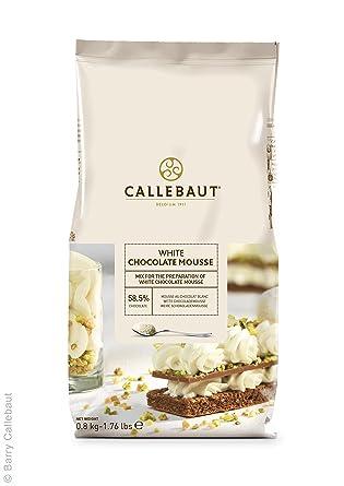 Callebaut polvo de mousse de chocolate blanco