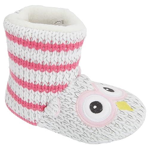 Zapatillas/botines de estar por casa de punto con diseño de búho: Amazon.es: Zapatos y complementos