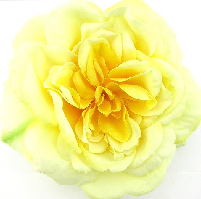 Amazon full 55 yellow rose silk flower brooch pin with full 55quot yellow rose silk flower brooch pin with locking bale mightylinksfo