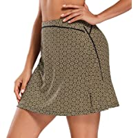 Ultrafun Women Active Athletic Skorts Elastic Quick-Drying Sports Tennis Golf Skirt with Built in Shorts