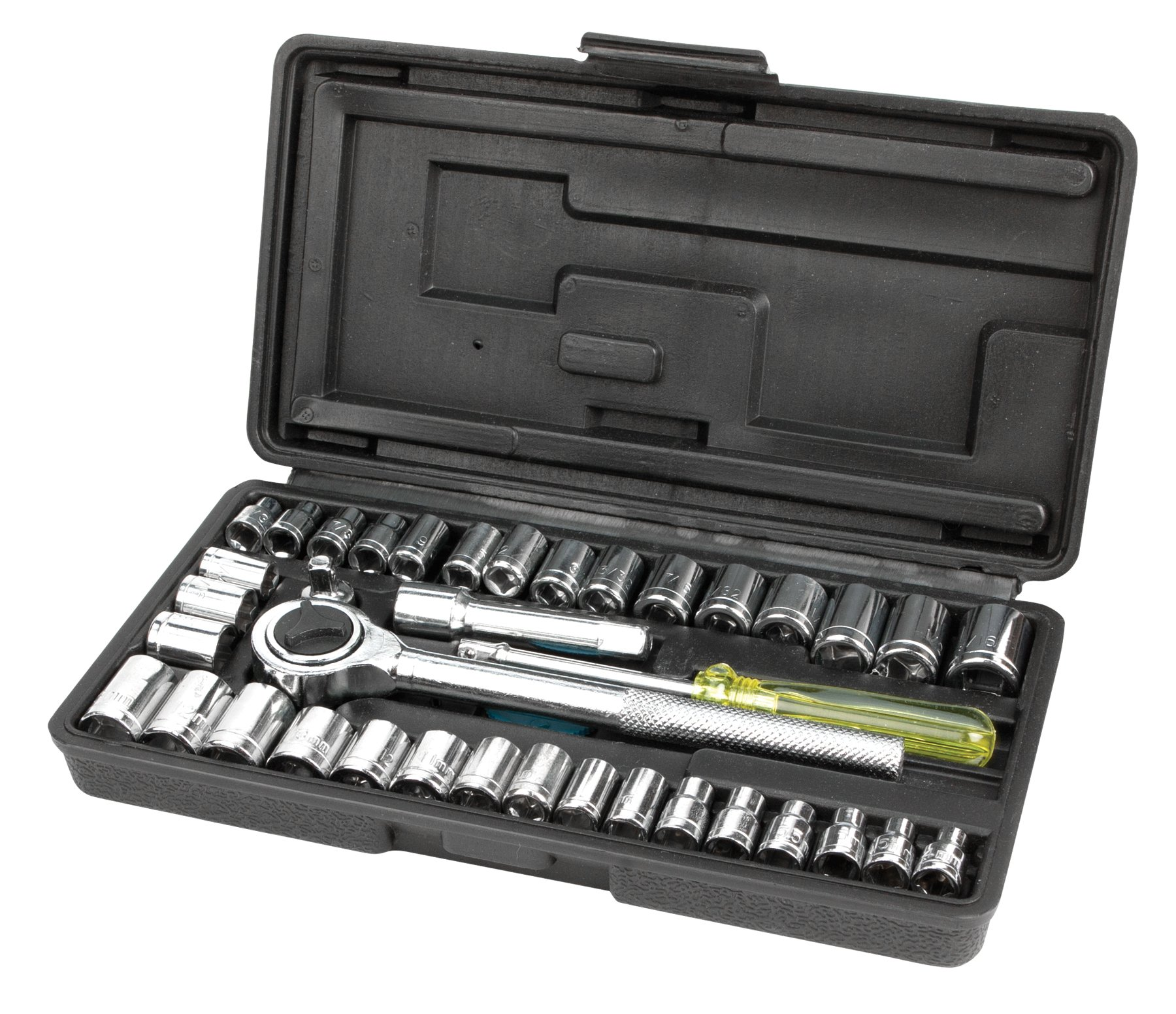 Performance Tool W1541 SAE/Metric 40-Piece Socket Set (1/4'' & 3/8'' Drive) by Performance Tool