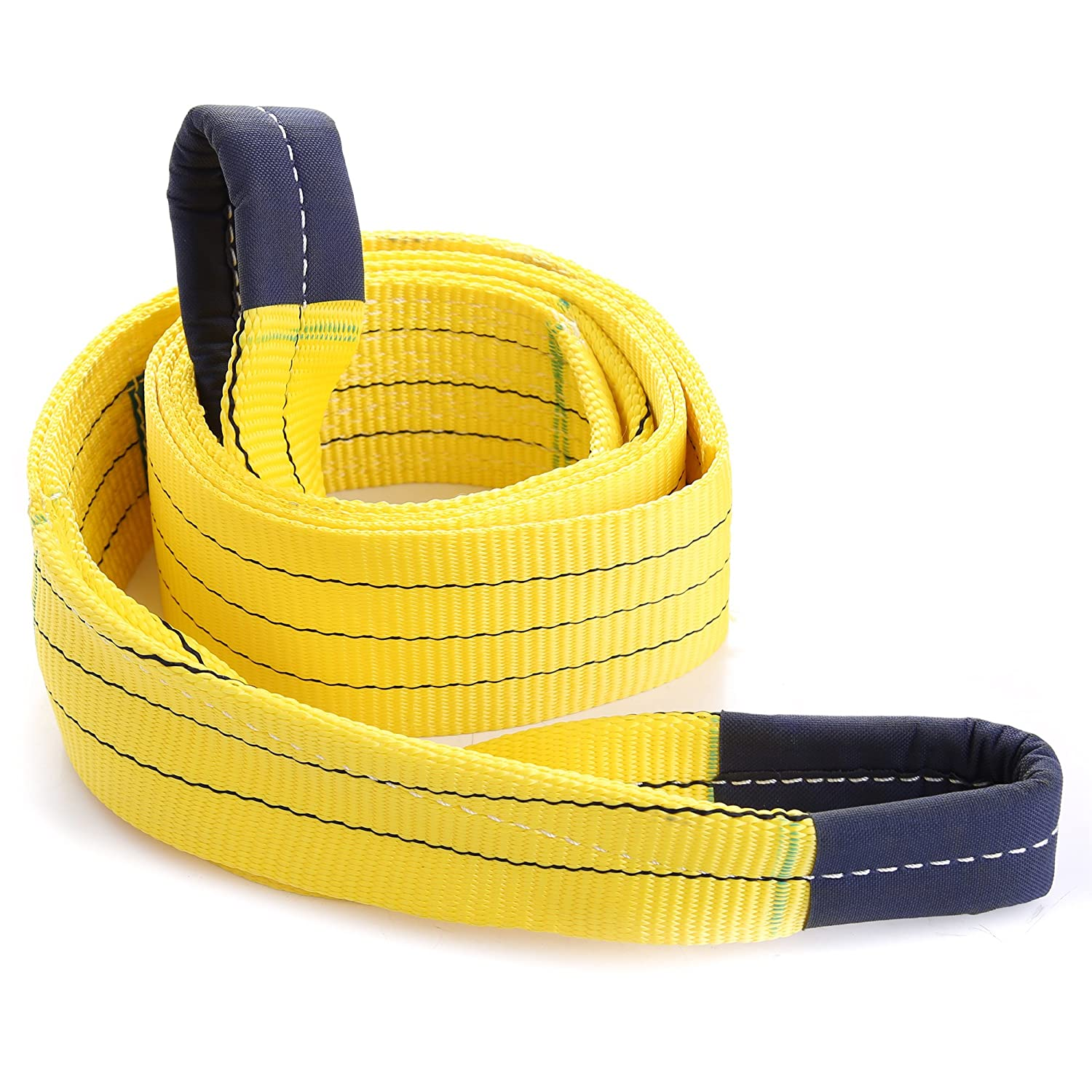 STANKO Tree Saver Recovery Winch Strap 8' x 3.5' Towing Strap 30000 Lbs Capacity Heavy Dury Strap UA (8' x 3.5')