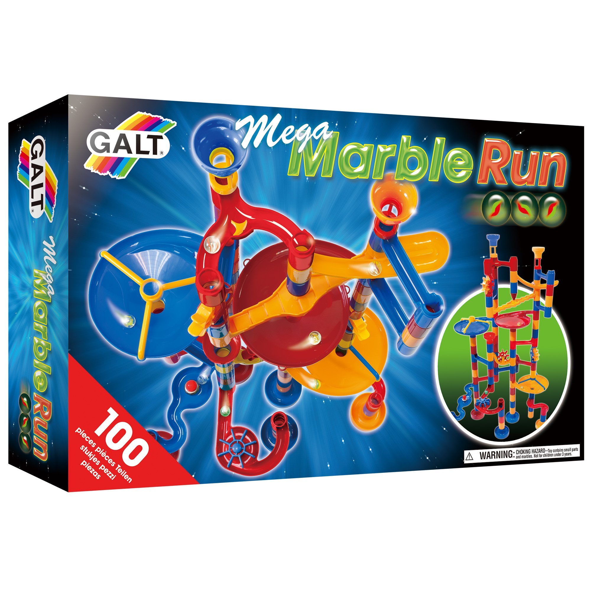 Galt Toys, Mega Marble Run, Construction Toy, Ages 4 Years Plus