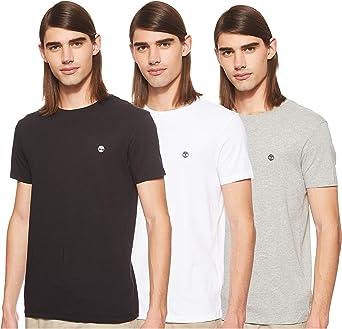 Timberland Camiseta (Pack de 3) para Hombre: Amazon.es: Ropa y ...