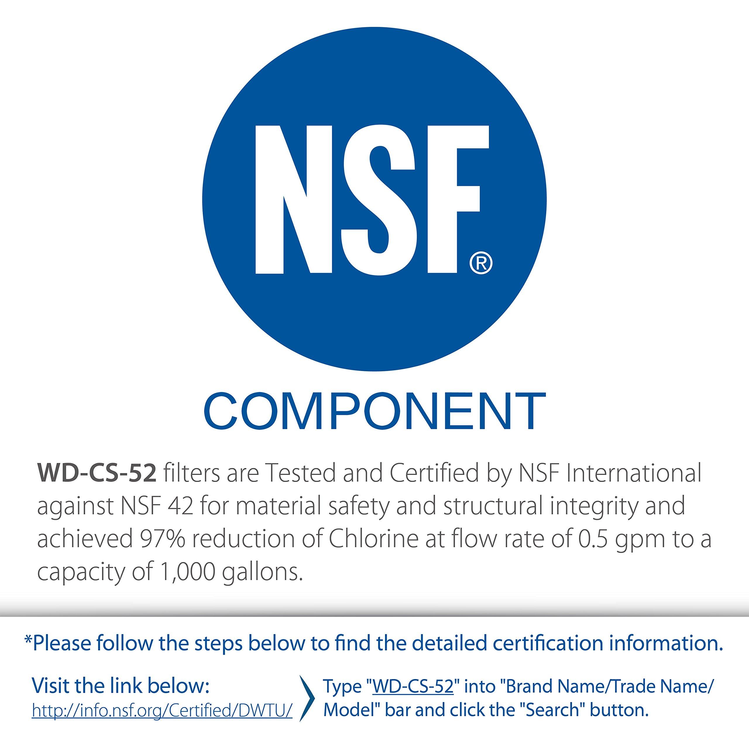 CS-562 Pack of 3 WD-CS-52 CS-522 Waterdrop Refrigerator Water Filter Compatible with 3M Cuno CS-52 2168701 CS-51 51000 CS-512 CS-532 CS450 W1085590 56932 CS-452 52000