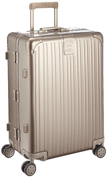 0196c39d24 Amazon   [カーゴ] スーツケース アルミキャリー フレーム   75L   6.5kg   双輪キャスター   TSAロータリーロック    保証付 70 cm マットブロンズ   スーツケース