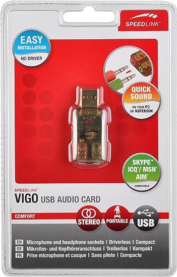 Speedlink Vigo Usb Audio Card Computer Zubehör