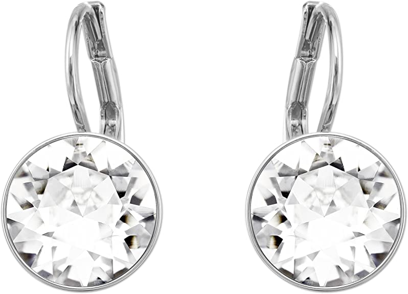 Swarovski Crystal Bella Mini Pierced Rhodium Plated Earrings
