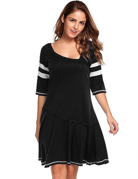 09f0e4a146dd OD'Lover Women Casual Short Sleeve Dress T-Shirt Dress Summer Mini ...