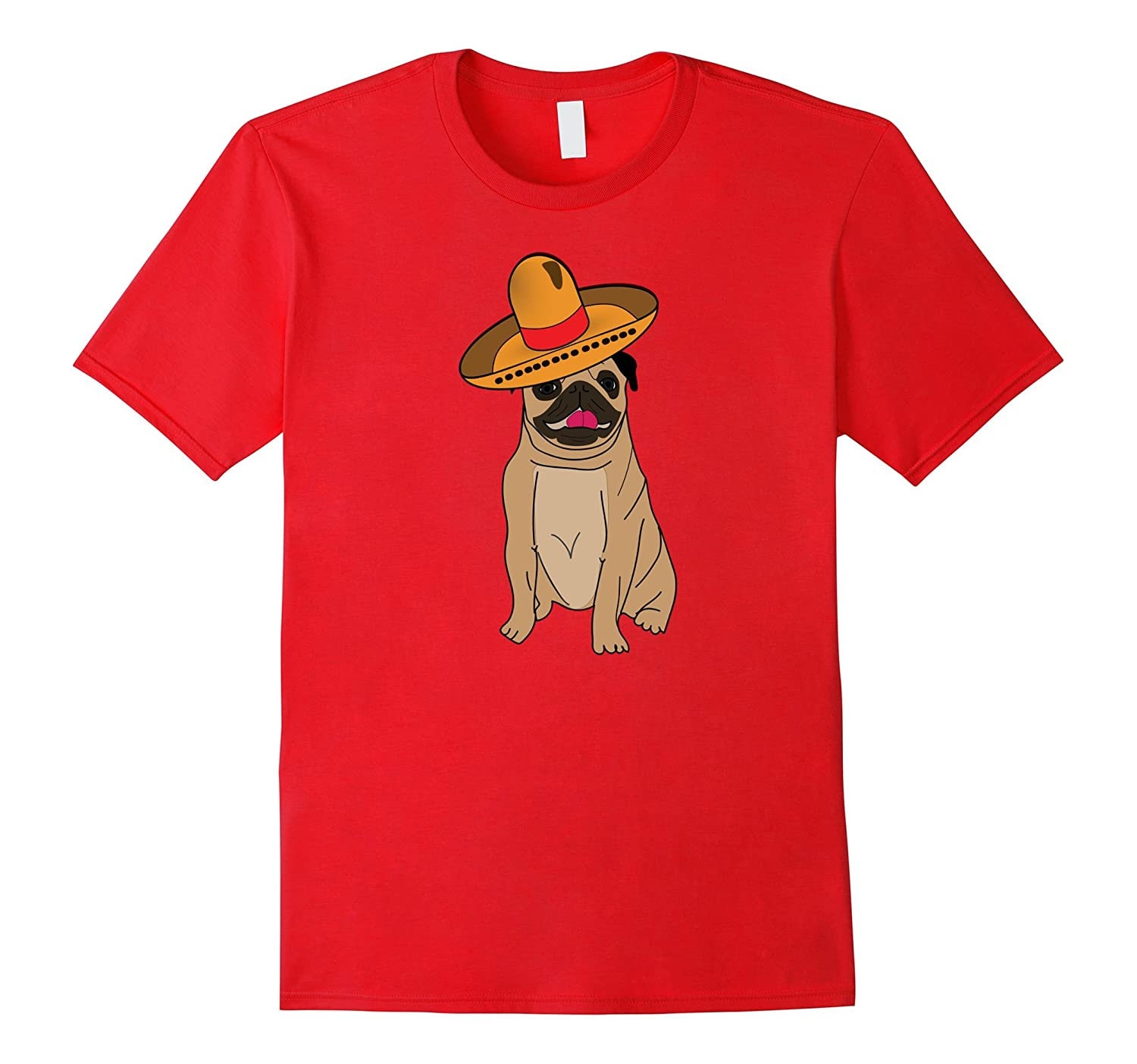PUG in a Sombrero T Shirt-PL