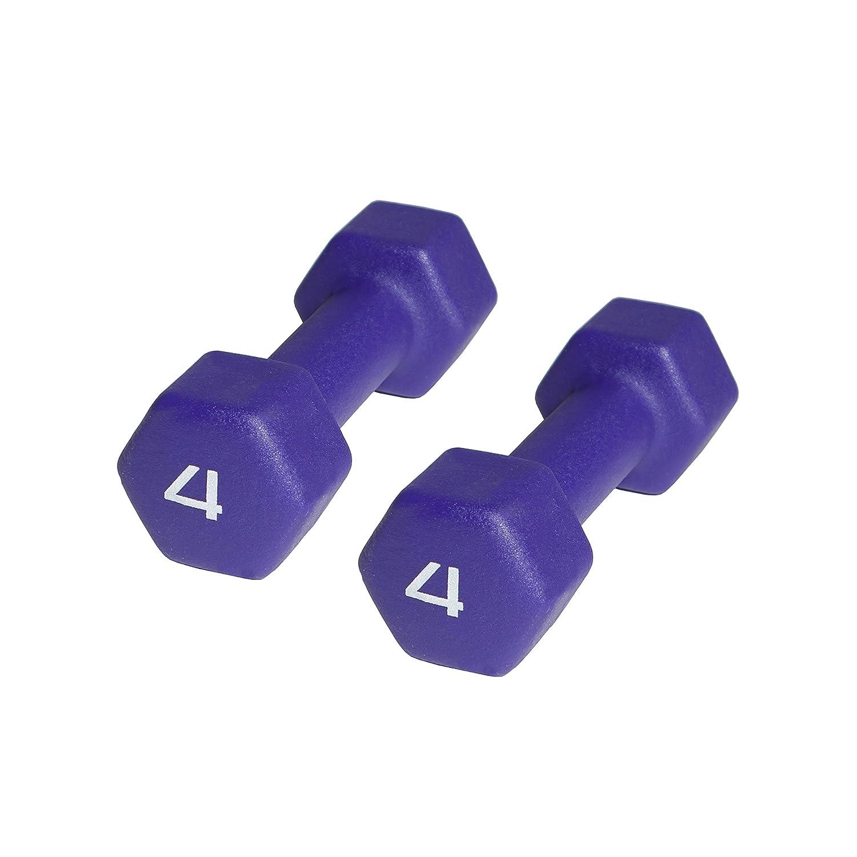 CAP Barbell Neoprene Coated Dumbbell Purple Inc 4 lb SDN4P-04 Pair
