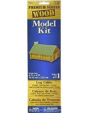 Darice 9179-90 Log Cabin Wood Model Kit, Natural, One Size