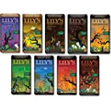 Lily's Chocolate Sampler 9 Pack (1 of each),(Original, Coconut, Crispy Rice,Almond, Creamy Milk,Salted Almond& Milk,Extra Dark,Blood Orange, Sea Salt)