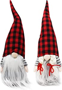 JOYIN 2 PCS Christmas Couple Gnome Christmas Tabletop, Gnome Plush Ornaments for Christmas Tabletop Decorations