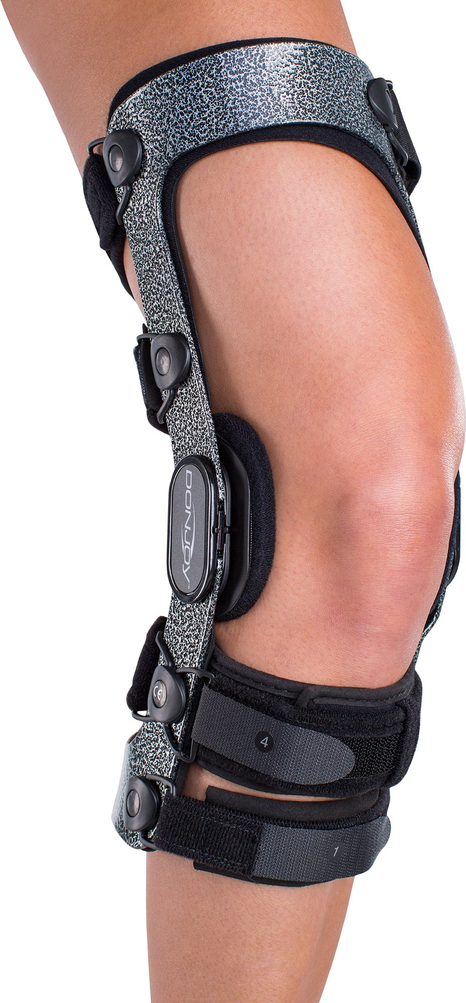 DonJoy Armor Knee Support Brace with Standard Hinge: Short Calf Length, ACL (Anterior Cruciate Ligament), Right Leg, Medium