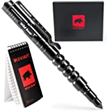 Tactical Pen for Self Defense and Personal Protection - EDC Spy Pen with Glass Breaker and Waterproof Pocket Notebook