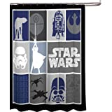"Star Wars Classic Quilt Microfiber 70"" X 72"" Fabric Shower Curtain"