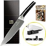 EMMSMART Professional Chef's Knife| Multipurpoase | High Carbon MEGA Sharp Steel Blade | Superior Stainless Steel | Great Gift Box + Bonus: Mini Knife Sharpener + eBook