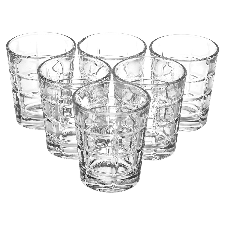 6x Marina Shot Glasses Queensway Lunettes /à shot de haute qualit/é