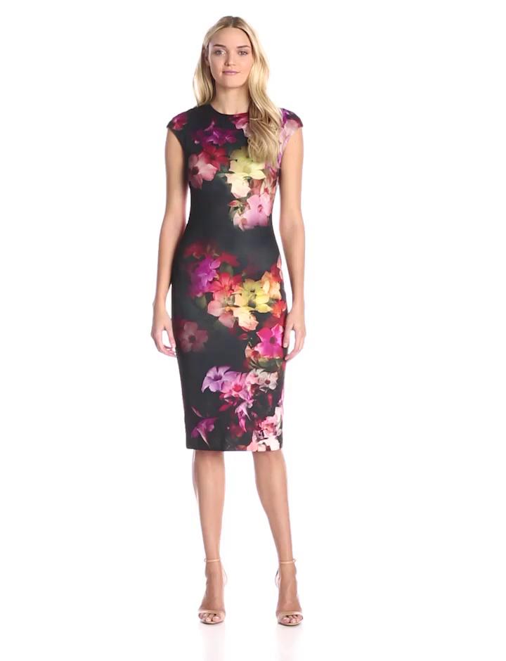 4d81017a39a5d Amazon.com  Ted Baker Women s Catina Cascading Floral Jersey Sheath Dress