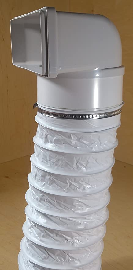 Canal Plano de ventilación Nord, 220 x 90 mm, 150 mm de diámetro, Conector para Campana extractora, transición a Redonda (transición 220 x 90 con Manguera de plástico de 150 mm de diámetro): Amazon.es: Hogar