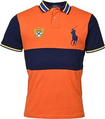 POLO RALPH LAUREN Men's Custom-Fit Crest Logo Big Pony Polo Shirt