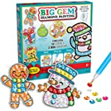 Creativity for Kids Big Gem Diamond Painting Kit - Create Your Own Holiday Stickers & Suncatchers - Diamond Art for Kids