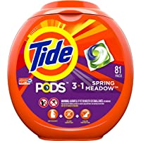 Deals on 81Ct Tide PODS 3 in 1 HE Turbo Laundry Detergent Spring Meadow