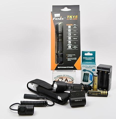 Amazon.com: Exclusivo táctico paquete Fenix TK15 S2 linterna ...