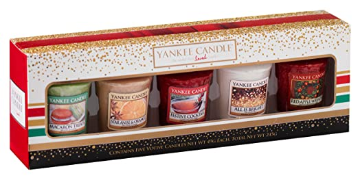 Image result for yankee candle christmas 5 votive candle gift set