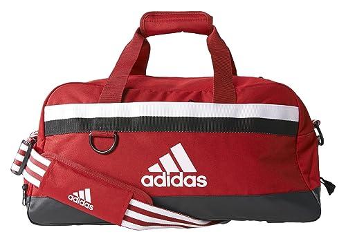 adidas Tiro - Bolsa de deporte (tamaño grande), color rojo y blanco: Amazon.es: Deportes y aire libre