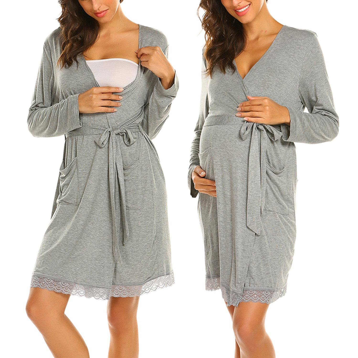 7f9fd94b438 This robe is made with soft comfortable fabric, suitable as maternity wear  and perfect for nursing