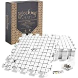 Hephaestus Crafts Blocking Mats for Knitting - Pack of 9 GRAY Blocking Boards with Grids for Needlepoint or Crochet. 150 T-pi