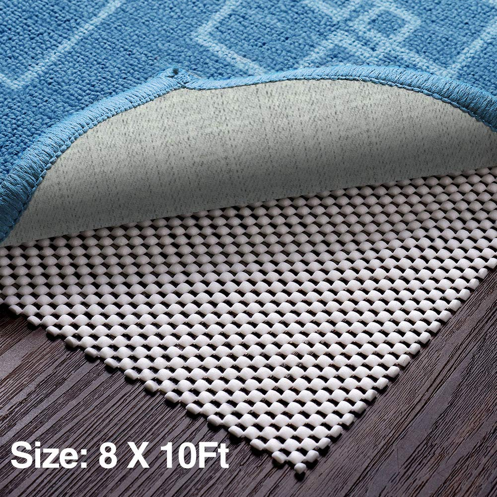 Veken Non-Slip Area Rug Pad Gripper 8' x 10' Extra Thick Pad for Any Hard Surface Floors, Keep Your Rugs Safe and in Place