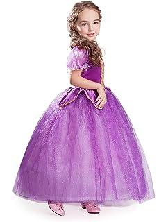 ELSA & ANNA Princesa Disfraz Traje Parte Las Niñas Vestido (Girls Princess Fancy Dress)