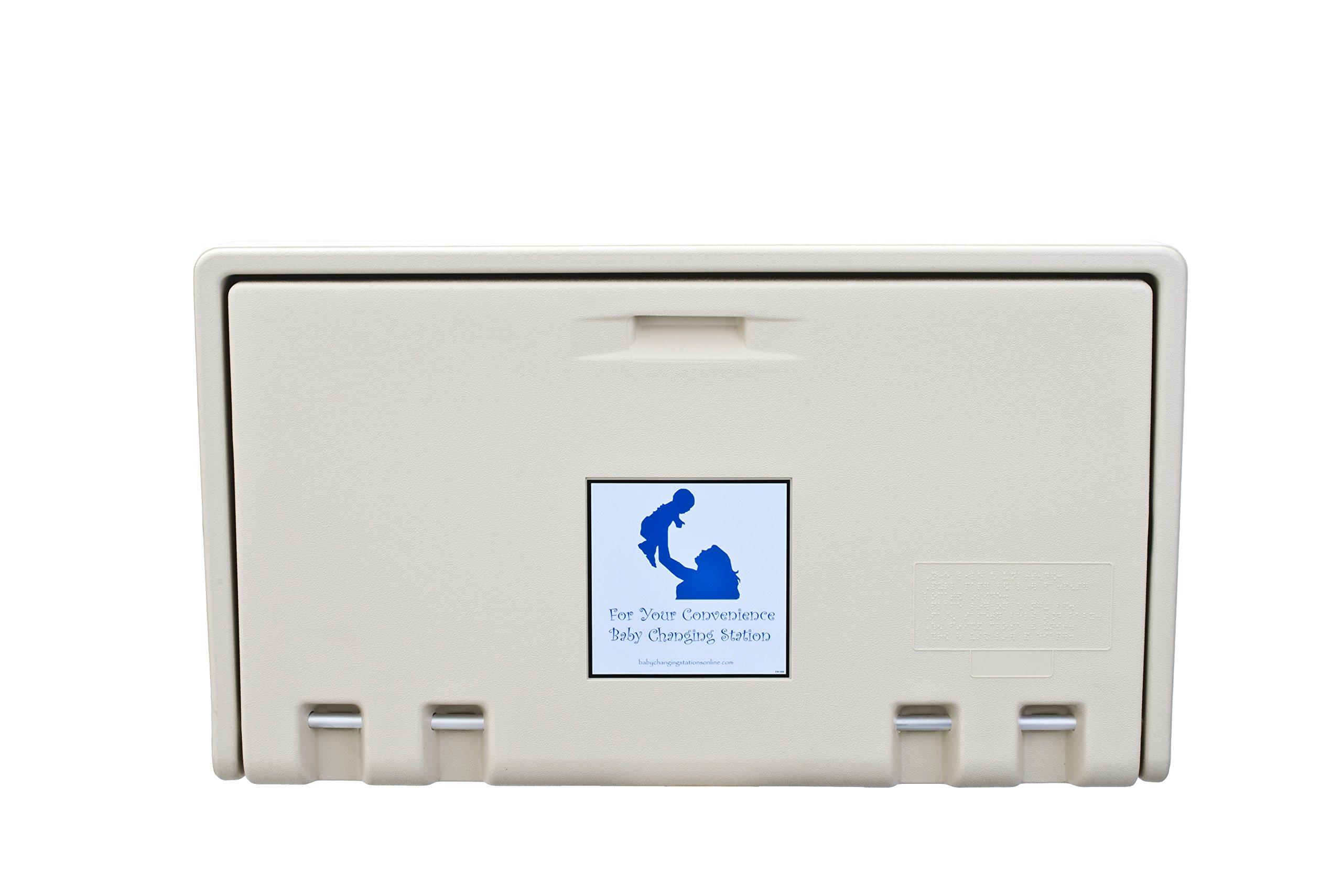 AHD 107-00 Cream Horizontal Baby Changing Station