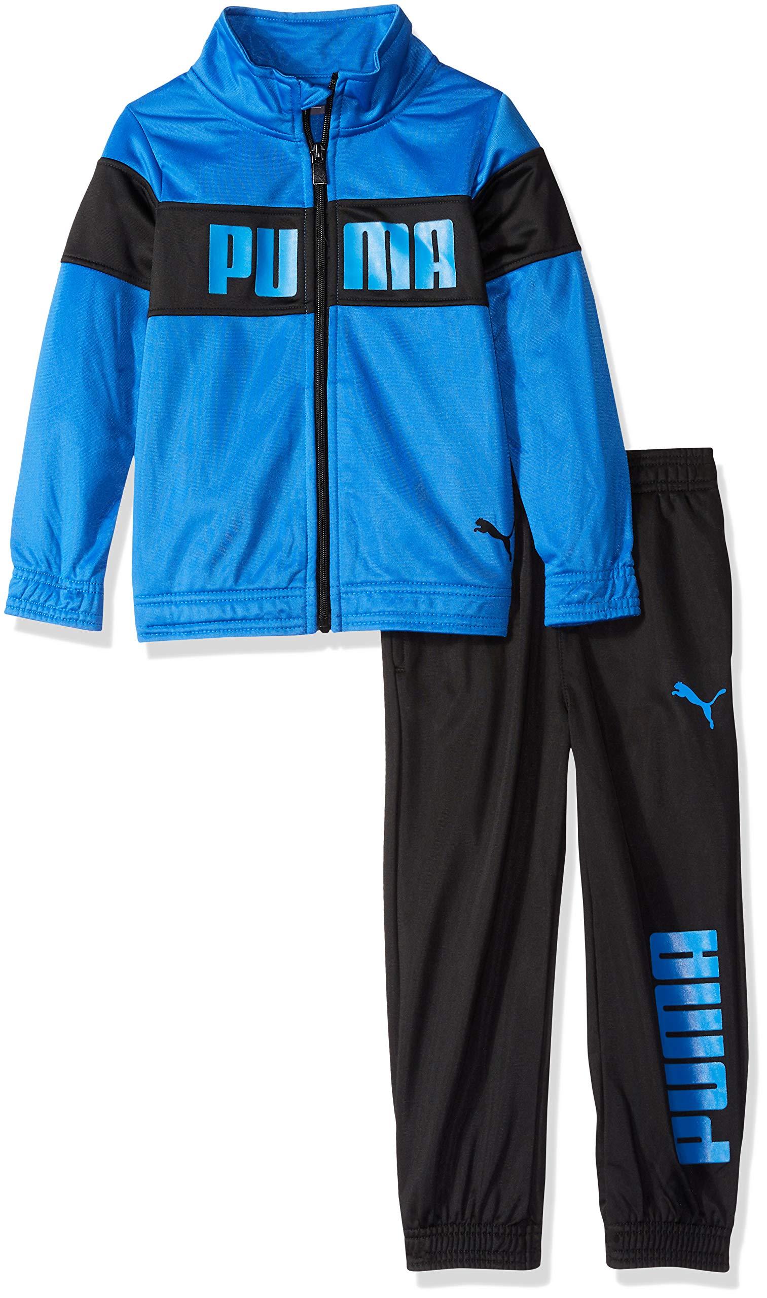 PUMA Little Boys' Tricot Pant Set, Strong Blue, 6